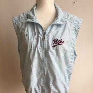 Vintage Nike Blue windbreaker vest stripe Large